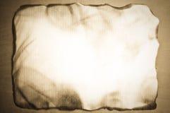 被烧的老纸张 免版税图库摄影