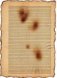 被烧的老纸张 免版税库存图片