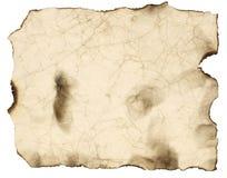 被烧的老纸页 皇族释放例证
