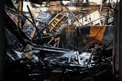 被烧的花店在布鲁克林NY 免版税库存图片