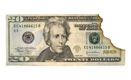 被烧的货币 库存照片
