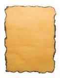 被烧的边缘纸张 库存图片