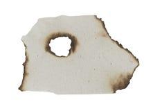 被烧的边缘纸张 免版税图库摄影