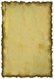 被烧的边缘老纸张 免版税库存图片