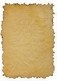被烧的边缘老纸扫描 免版税库存图片