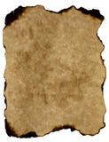 被烧的边缘自然老纸羊皮纸 免版税库存图片