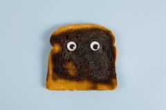 被烧的面包 库存图片