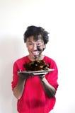 被烧的食物 免版税图库摄影