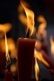 被烧的香火 免版税库存照片