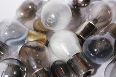 被烧的2个电灯泡编组光  免版税库存图片