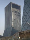 被烧的4北京大厦 免版税库存照片
