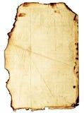 被烧的grunge纸张 库存图片