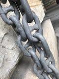 被焊接的链子 图库摄影