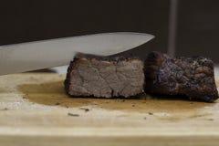 被煮过头的牛肉 库存照片