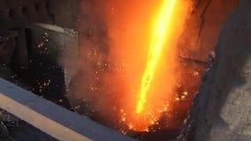 被熔化的金属 股票视频
