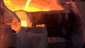 被熔铸的铜的生产 影视素材
