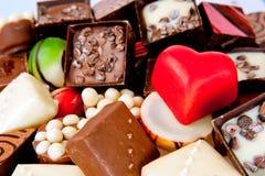 被爱的巧克力甜点 库存图片