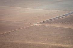 被犁的农业土壤 免版税图库摄影