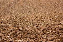 被犁的土壤 免版税库存图片