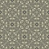 被环绕的花设计在黑n白色的无缝的样式背景例证 向量例证