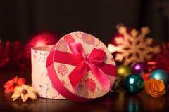被环绕的礼物盒圣诞节 图库摄影