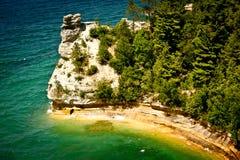 被生动描述的岩石,密执安 免版税库存照片