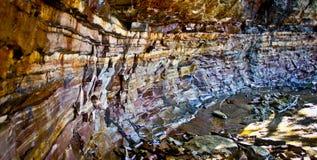 被生动描述的岩石,密执安 库存图片