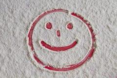 被生动描述的微笑面孔 库存照片