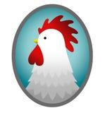 被生动描述的雄鸡 库存图片