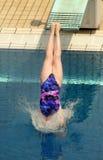 被生成的游泳者水 免版税库存照片