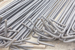 被用于的钢标尺或棒加强混凝土 免版税库存照片