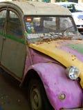 被用完的汽车老 库存照片