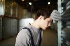 被用尽的货物工作者 免版税库存图片