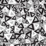 被画的三角递无缝的样式 免版税库存照片