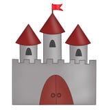 被画的城堡 免版税库存图片