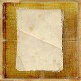 被疏远的看板卡grunge老纸张 向量例证
