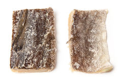 被盐溶的鳕鱼 图库摄影