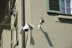 被监测的房子角落 免版税图库摄影