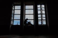 被监禁人的阴影 库存图片