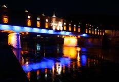 被盖的木桥,洛维奇,保加利亚镇  免版税库存照片