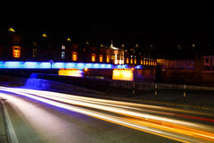 被盖的木桥,洛维奇,保加利亚镇  库存图片