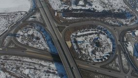 被看见的高速公路从上面,寄生虫视图 股票视频