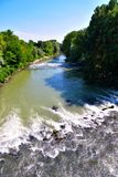 被看见的oglio河 免版税图库摄影