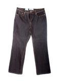 被砂洗的牛仔裤 图库摄影