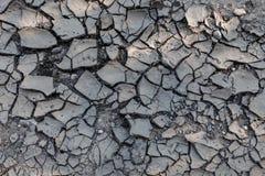 被研的镇压 崩裂从天旱,土地是棕色的 图库摄影