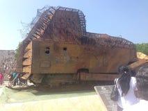 被破坏的军车在贾夫纳斯里兰卡 免版税库存图片