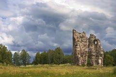 被破坏的城堡 库存图片