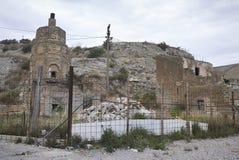 被破坏的大厦在泰尔米尼伊梅雷塞 免版税库存图片