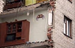 被破坏的房子 免版税图库摄影