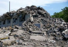 被破坏的房子 库存照片